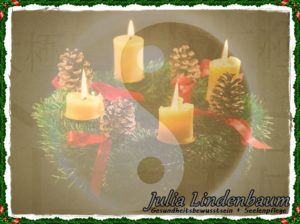 Julia Lindenbaum 4. Advent Adventskranz Monade Yin & Yang Einheit QiGong Harmonie Jahreskreis Wintersonnenwende 2019